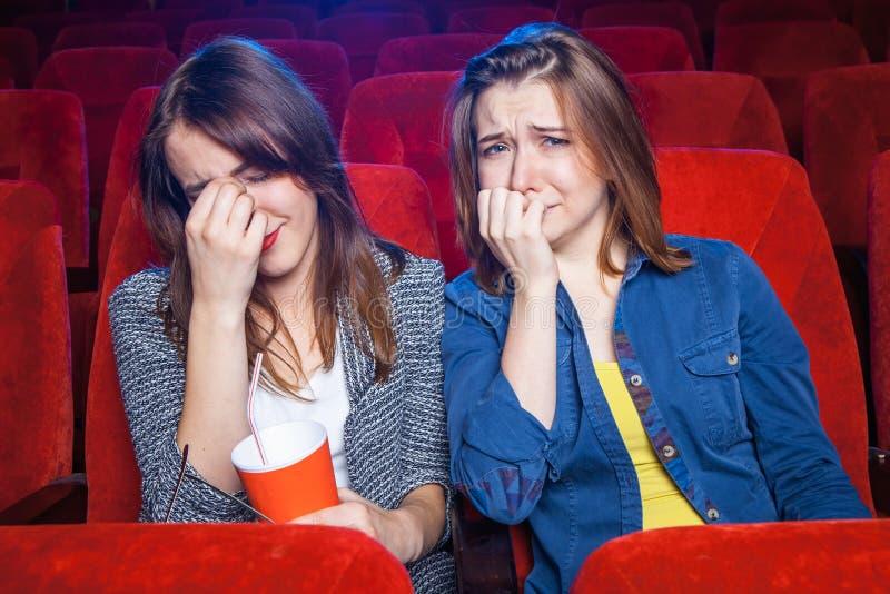 Οι θεατές στον κινηματογράφο στοκ εικόνες