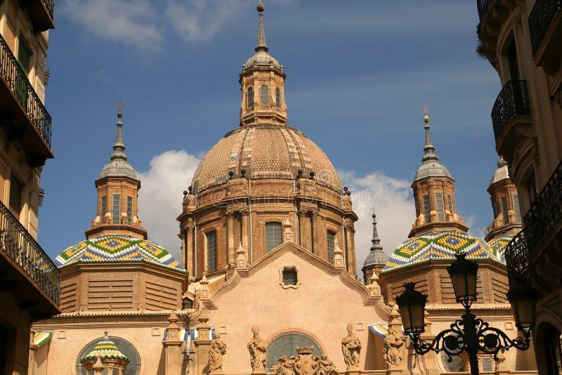 Οι θόλοι του καθεδρικού ναού Σαραγόσα στοκ φωτογραφία με δικαίωμα ελεύθερης χρήσης