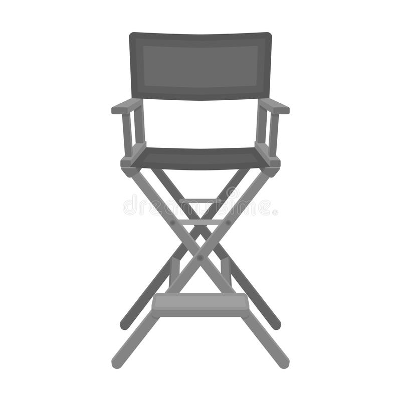 Οι διευθυντές προεδρεύουν του εικονιδίου στο μονοχρωματικό ύφος που απομονώνεται στο άσπρο υπόβαθρο Ταινίες και διάνυσμα αποθεμάτ διανυσματική απεικόνιση