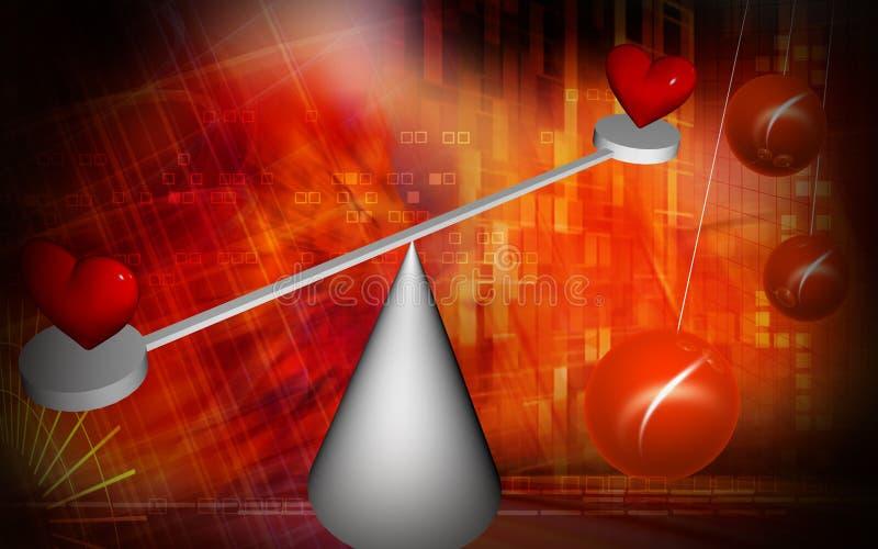 οι ισορροπώντας καρδιές & απεικόνιση αποθεμάτων