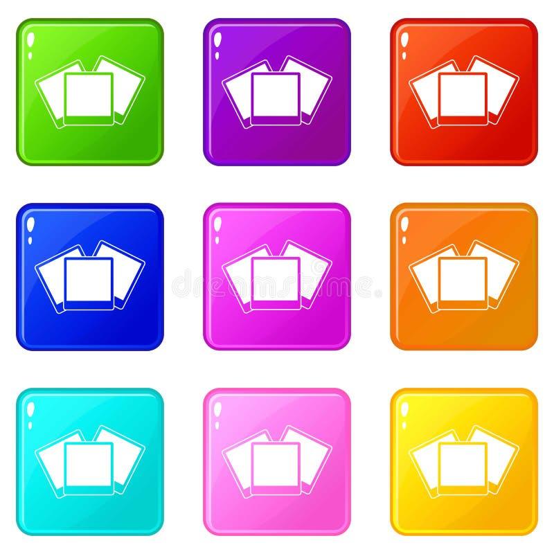 Οι κάρτες γαμήλιας πρόσκλησης θέτουν 9 απεικόνιση αποθεμάτων