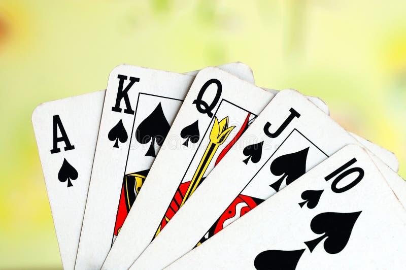 οι κάρτες ξεπλένουν το πό&kapp στοκ εικόνα