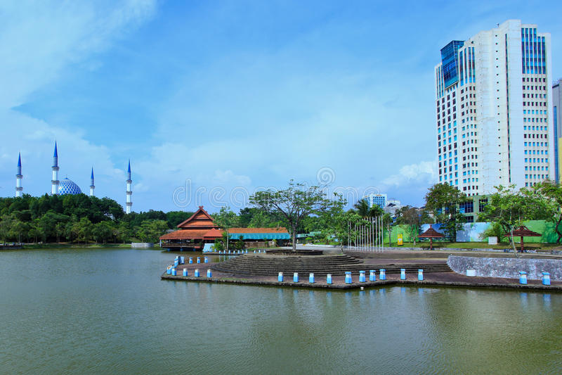 Οι κήποι λιμνών Shah Alam στοκ εικόνες