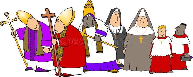 οι Καθολικοί παρελαύν&omicro ελεύθερη απεικόνιση δικαιώματος