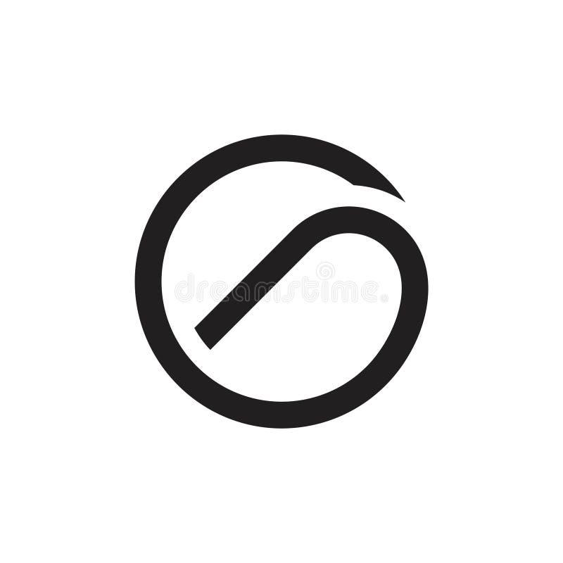 Οι καμπύλες γραμμάτων γ περιβάλλουν το γεωμετρικό λογότυπο γραμμών διανυσματική απεικόνιση