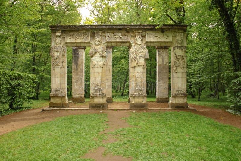 Οι καρυάτιδες chenonceau de πυργων Chenonceaux Γαλλία στοκ φωτογραφία