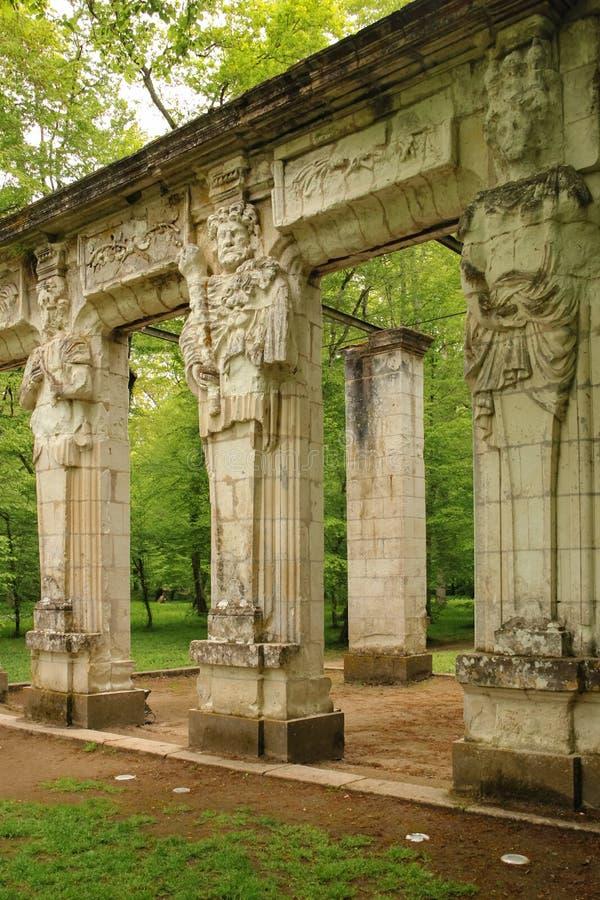 Οι καρυάτιδες chenonceau de πυργων Chenonceaux Γαλλία στοκ εικόνες με δικαίωμα ελεύθερης χρήσης