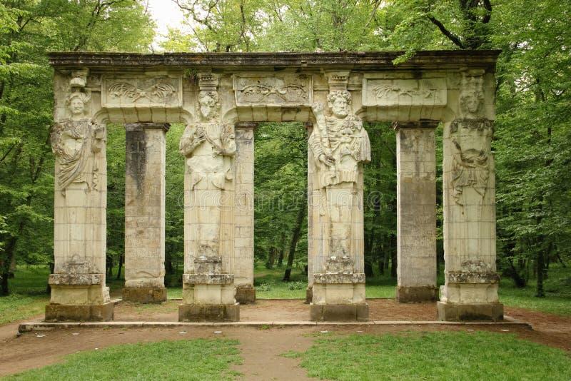 Οι καρυάτιδες chenonceau de πυργων Chenonceaux Γαλλία στοκ εικόνα με δικαίωμα ελεύθερης χρήσης