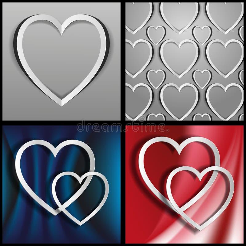Οι καρδιές που αποκόπτουν από το έγγραφο ελεύθερη απεικόνιση δικαιώματος