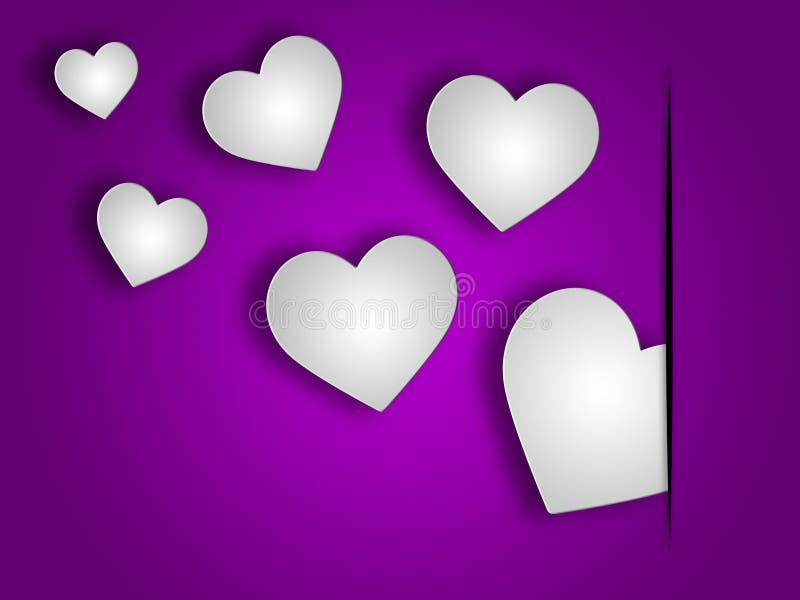 Οι καρδιές υποβάθρου δείχνουν το βαλεντίνο και το σκηνικό υποβάθρων απεικόνιση αποθεμάτων