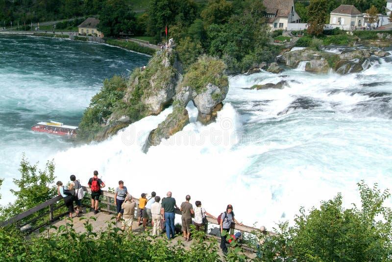 Οι καταρράκτες του Ρήνου σε Neuhausen στην Ελβετία στοκ φωτογραφία με δικαίωμα ελεύθερης χρήσης