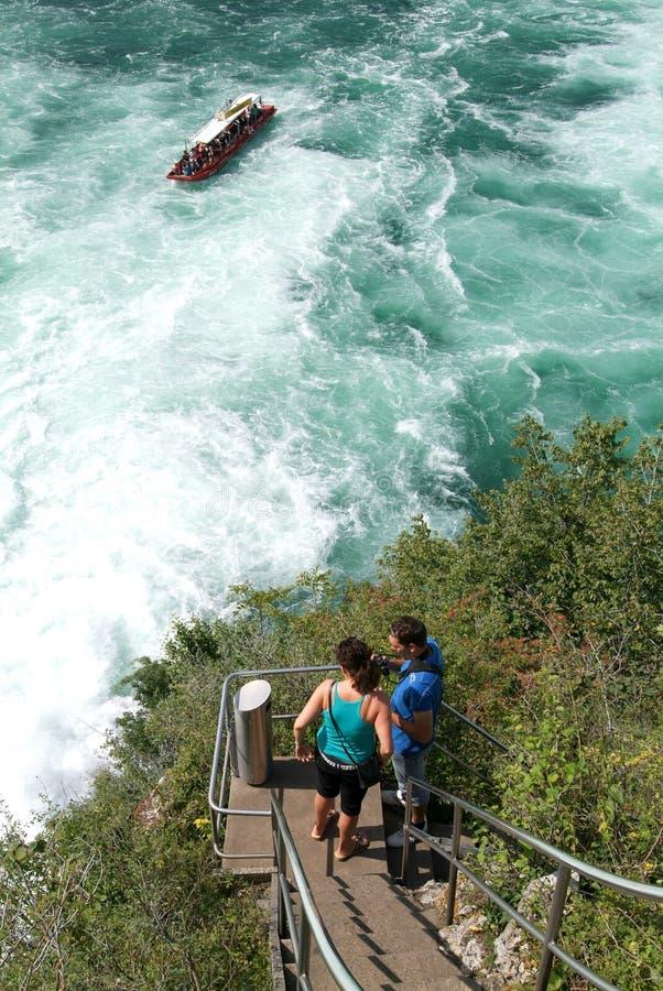 Οι καταρράκτες του Ρήνου σε Neuhausen στην Ελβετία στοκ φωτογραφίες με δικαίωμα ελεύθερης χρήσης