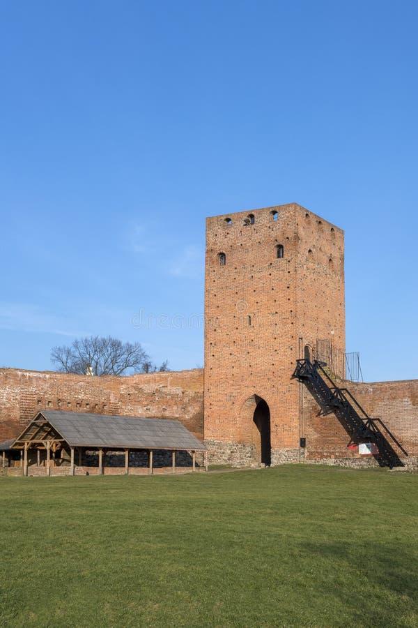 Οι καταστροφές του κάστρου σε Czersk, Πολωνία στοκ φωτογραφία