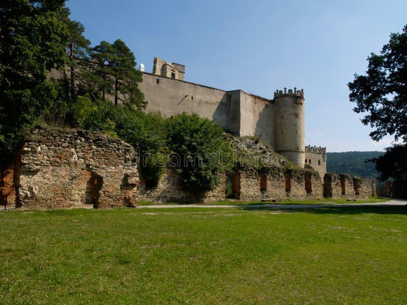 Οι καταστροφές του κάστρου Boskovice στοκ φωτογραφία