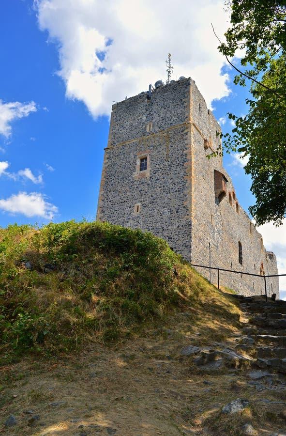 Οι καταστροφές του κάστρου RadynÄ› στοκ εικόνες