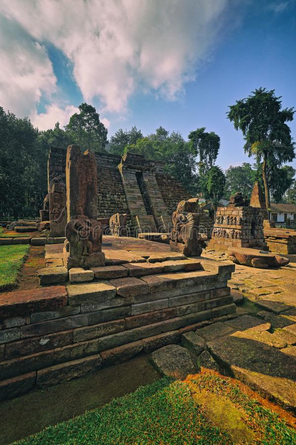 Οι καταστροφές του ναού Ινδονησία Sukuh στοκ φωτογραφία με δικαίωμα ελεύθερης χρήσης