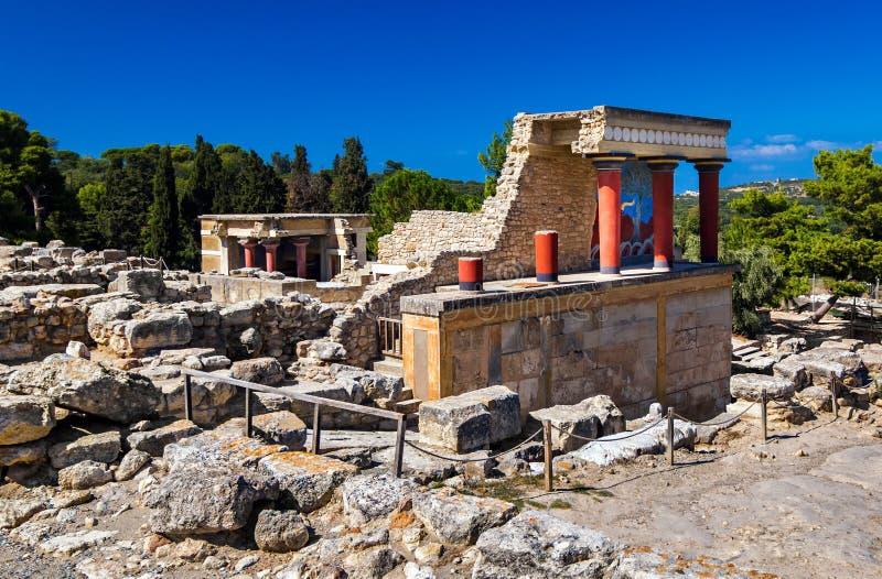 Οι καταστροφές του παλατιού της Κνωσού στην Ελλάδα, στοκ φωτογραφίες με δικαίωμα ελεύθερης χρήσης