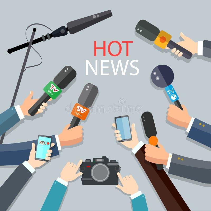 Οι καυτές ειδήσεις ζουν έννοια εκθέσεων απεικόνιση αποθεμάτων