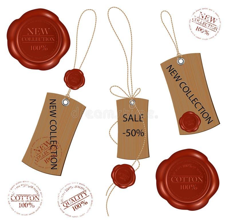 οι κενές καφετιές σφραγί&z απεικόνιση αποθεμάτων