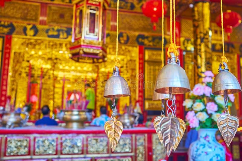 Οι κτύποι αέρα στον κινεζικό ναό, Yangon, το Μιανμάρ στοκ εικόνα με δικαίωμα ελεύθερης χρήσης