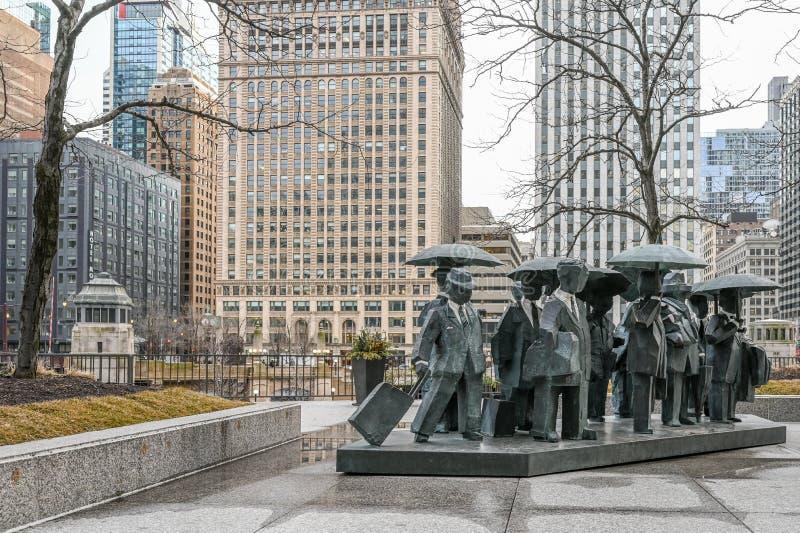 Οι κύριοι σε AMA Plaza στο Σικάγο στοκ εικόνες με δικαίωμα ελεύθερης χρήσης