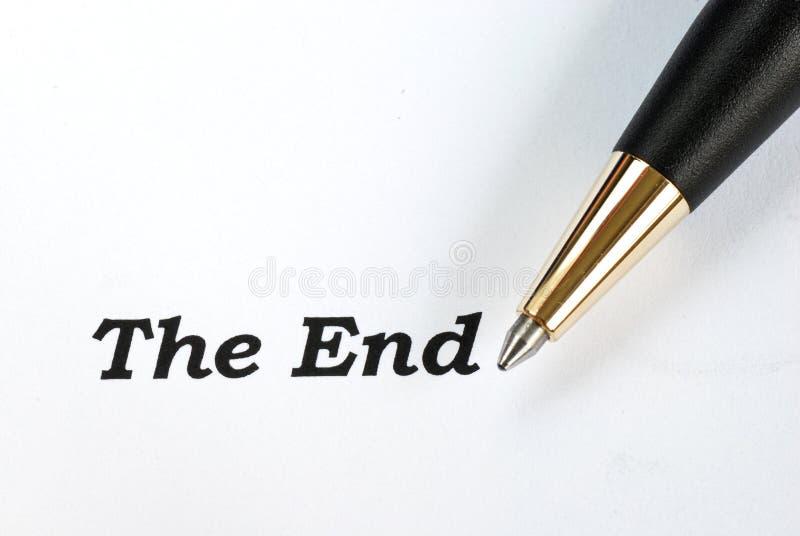 Οι λέξεις το τέλος στοκ φωτογραφία