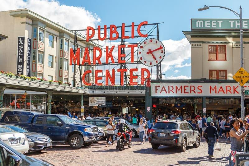 Οι λούτσοι τοποθετούν το κέντρο δημόσιας αγοράς στο Σιάτλ στοκ φωτογραφία με δικαίωμα ελεύθερης χρήσης