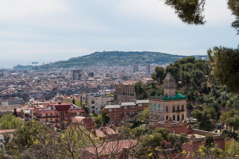 Οι λόφοι της Βαρκελώνης στοκ φωτογραφίες