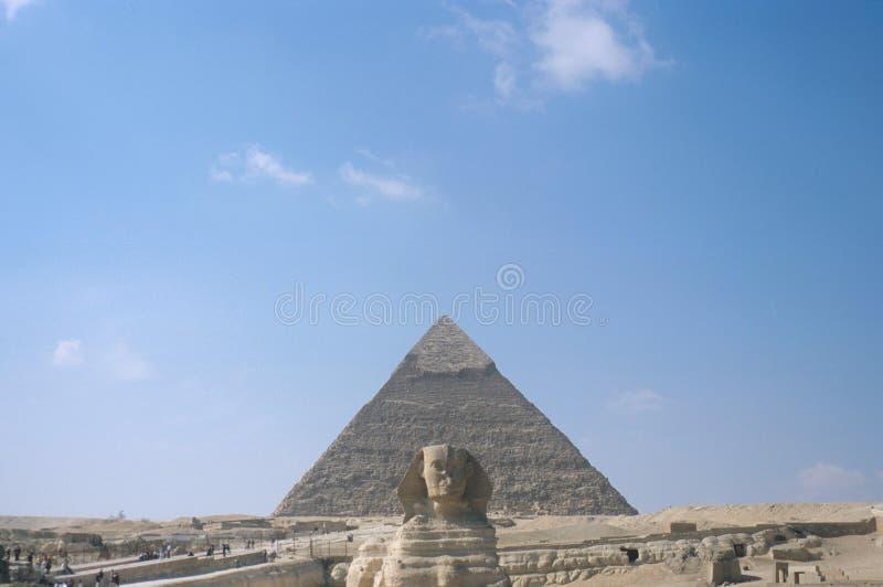 Οι μεγάλες πυραμίδες σε Giza στοκ εικόνα με δικαίωμα ελεύθερης χρήσης