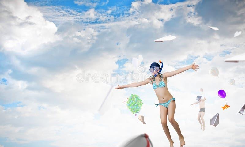 Οι μεγάλες θερινές διακοπές μου Μικτά μέσα στοκ φωτογραφίες με δικαίωμα ελεύθερης χρήσης