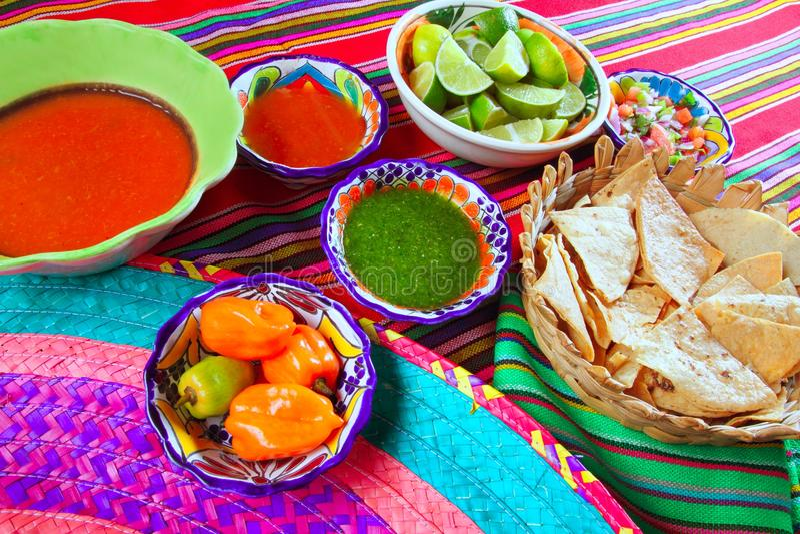 οι μεξικάνικες σάλτσες na στοκ φωτογραφίες