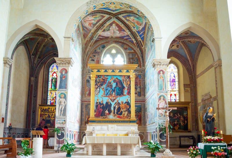 Οι μεσαιωνικές αρχιτεκτονικές του SAN Giminiano στοκ εικόνες