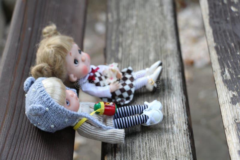 Οι μικρές κούκλες έχουν επίσης μια καρδιά στοκ φωτογραφία