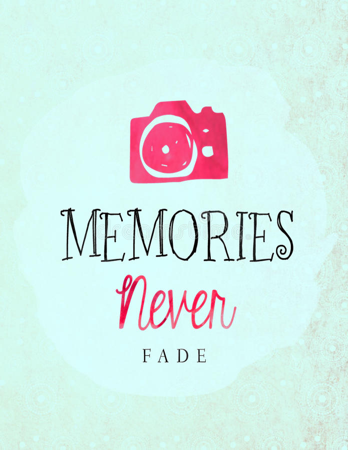 Οι μνήμες δεν εξασθενίζουν ποτέ ελεύθερη απεικόνιση δικαιώματος