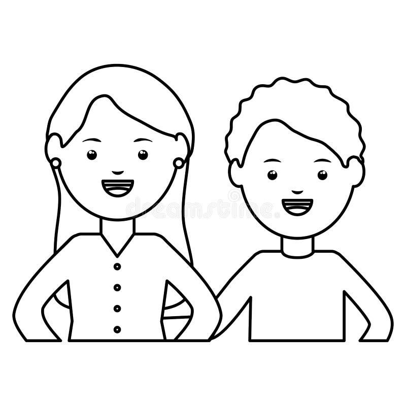 Οι νέοι δάσκαλοι συνδέουν τους χαρακτήρες εκπαίδευσης ελεύθερη απεικόνιση δικαιώματος