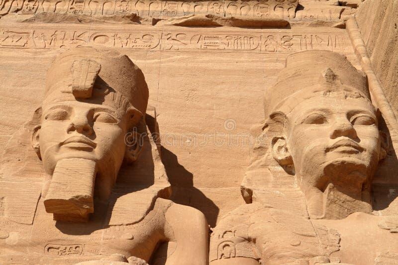 Οι ναοί Abu Simbel στην Αίγυπτο στοκ φωτογραφία
