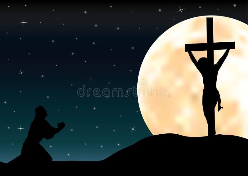 Οι νύξεις στον Ιησού, διανυσματικές απεικονίσεις στοκ φωτογραφία