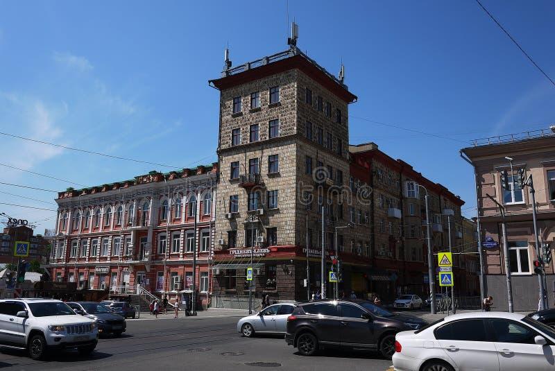 Οι οδοί και η αρχιτεκτονική Ροστόφ--φορούν r στοκ εικόνα
