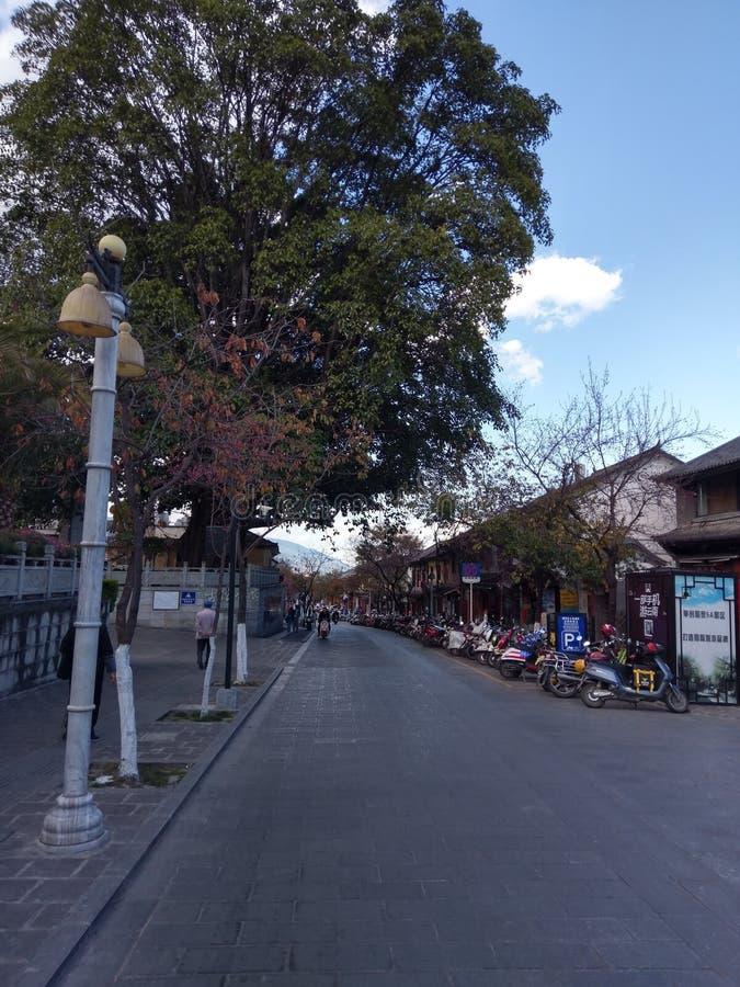 Οι οδοί της αρχαίας πόλης του Δαλιού, Yunnan στοκ εικόνες