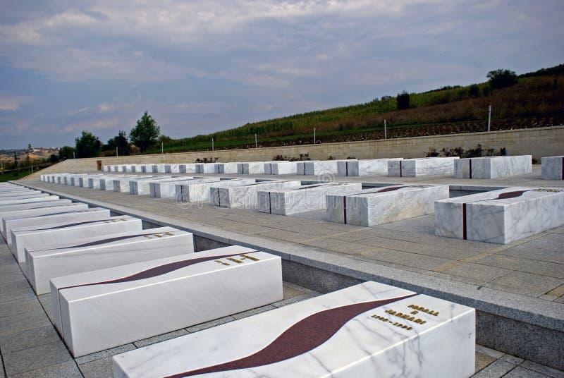 Οι οικογενειακοί τάφοι Jashari, Prekaz, Κόσοβο στοκ φωτογραφία