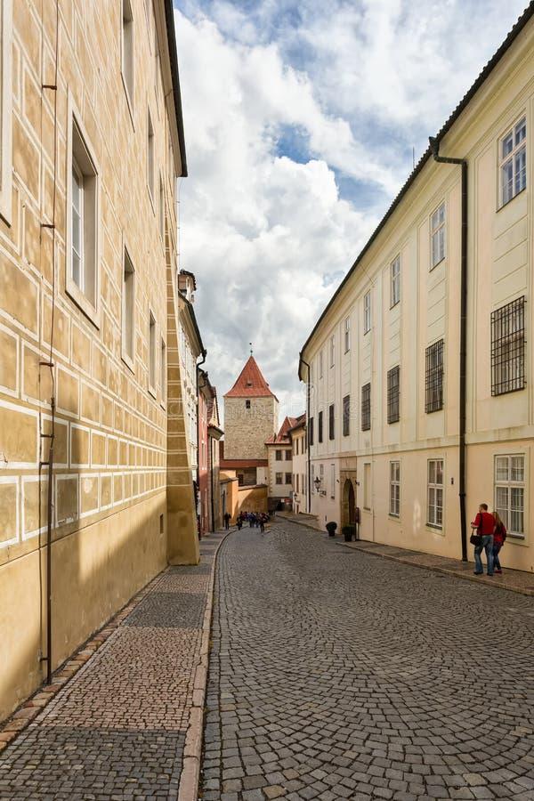 Οι οδοί της Πράγας στοκ εικόνες με δικαίωμα ελεύθερης χρήσης