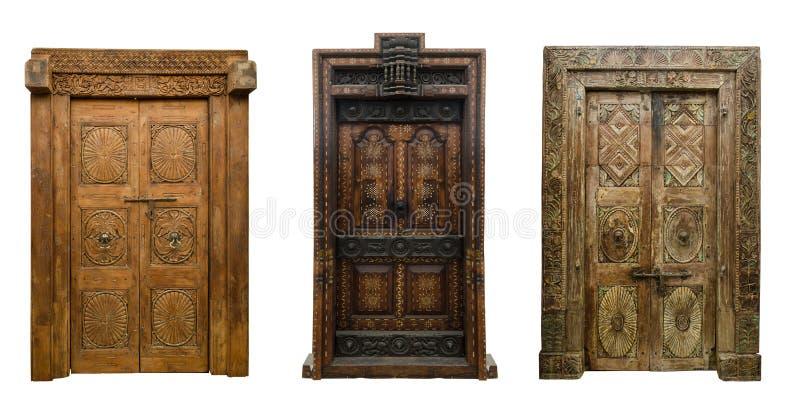 Οι παλαιές πόρτες θέτουν 8 στοκ εικόνα με δικαίωμα ελεύθερης χρήσης