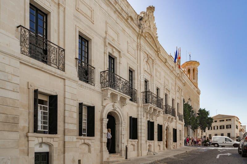 Οι περίεργες οδοί Mahon στην Ισπανία στοκ εικόνα με δικαίωμα ελεύθερης χρήσης