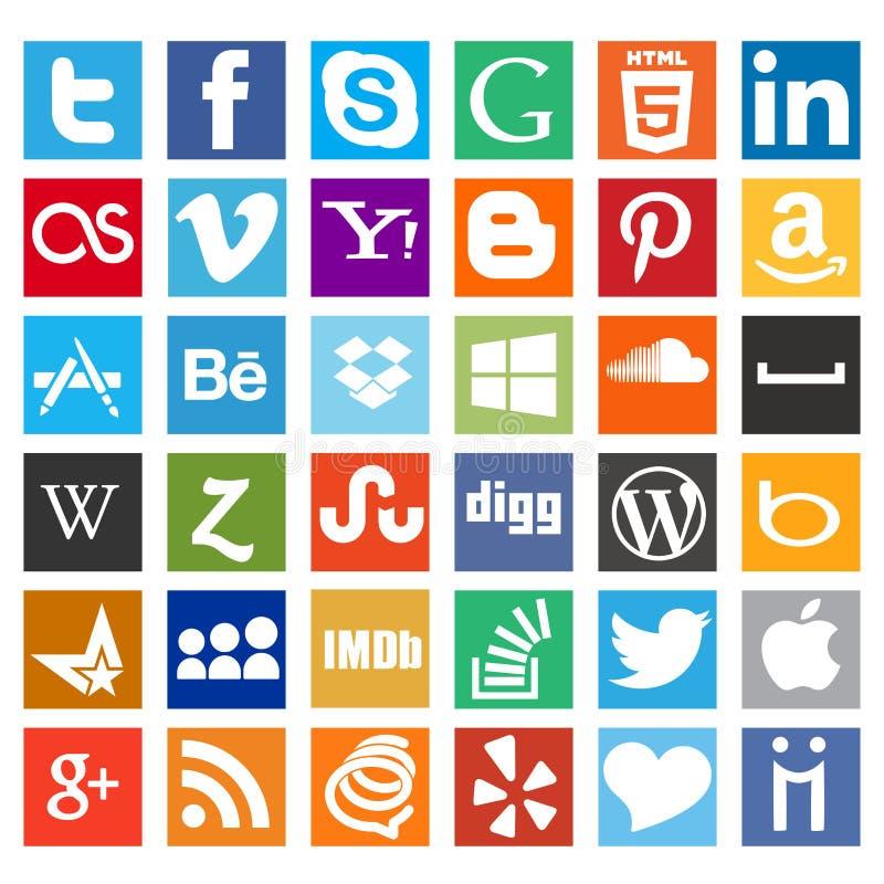 Οι περισσότεροι θέλησαν το κοινωνικό πακέτο εικονιδίων μέσων διανυσματική απεικόνιση