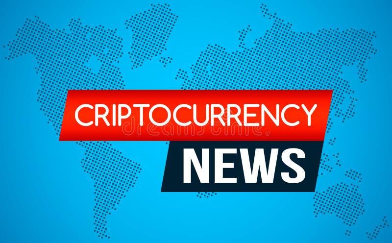 Οι πιό πρόσφατες ειδήσεις των ειδήσεων Cryptocurrency ενάντια στο σκηνικό ενός ρεύματος της δυαδικής μήτρας κωδικοποιούν στην οθό ελεύθερη απεικόνιση δικαιώματος