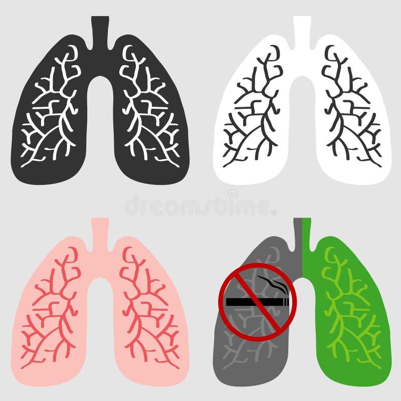 Οι πνεύμονες του ατόμου απεικόνιση αποθεμάτων