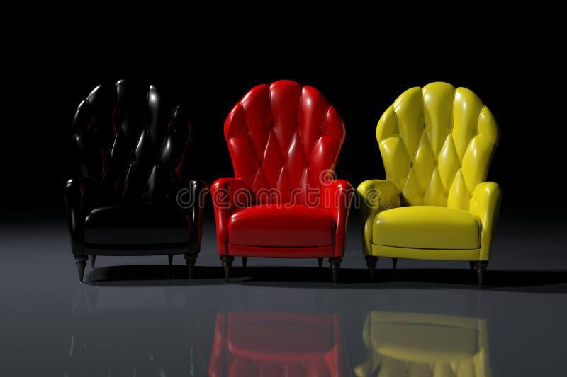 οι πολυθρόνες χρωματίζουν τα γερμανικά διανυσματική απεικόνιση