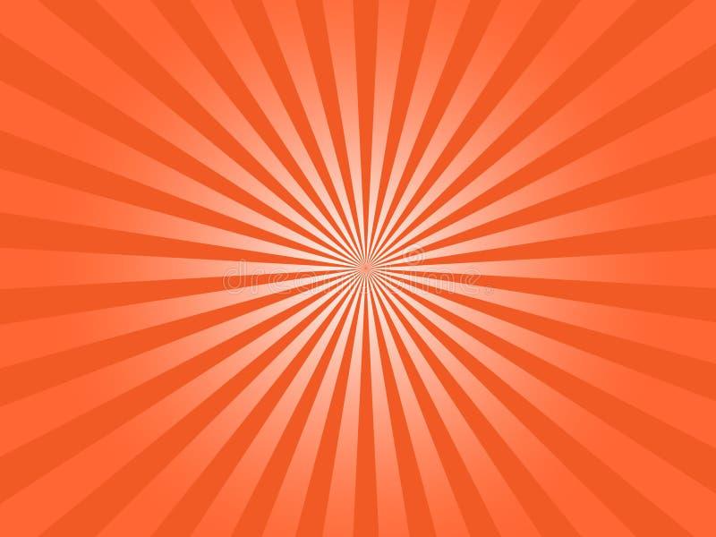 Οι πορτοκαλιές ακτίνες ήλιων εκρήγνυνται αφηρημένο διανυσματικό γραφικό διανυσματική απεικόνιση