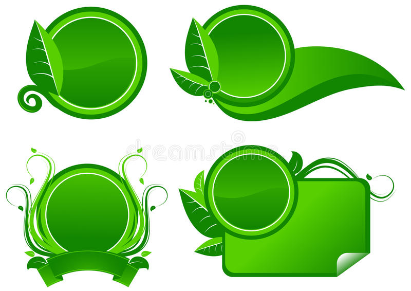 οι πράσινες ετικέτες βγά&zet διανυσματική απεικόνιση
