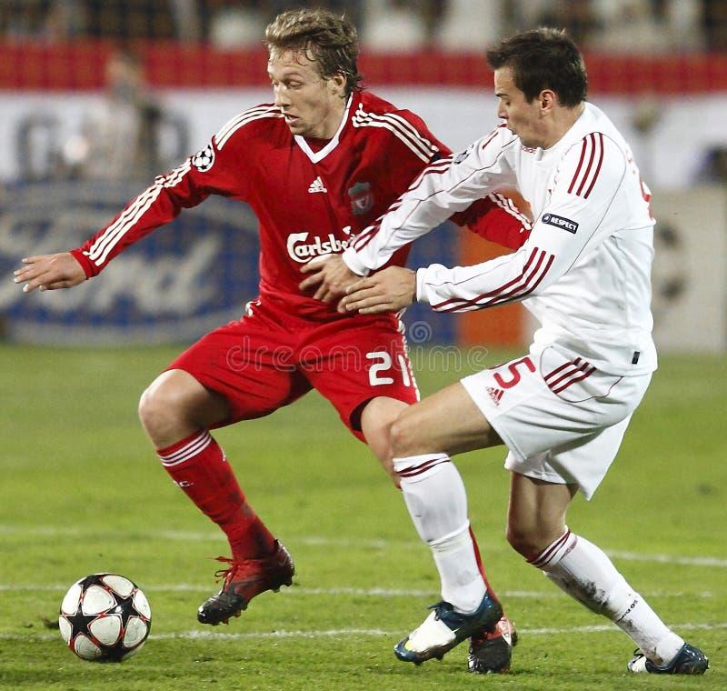 οι πρωτοπόροι το UEFA αντιστ&omi στοκ εικόνα με δικαίωμα ελεύθερης χρήσης